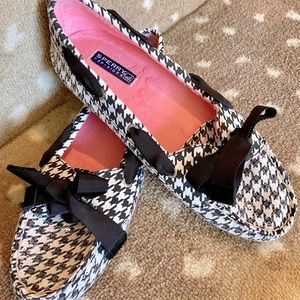 Sperry Black & White Houndstooth Loafer